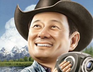 An artist rendition of Ang Lee in a state of non-douchebaggery